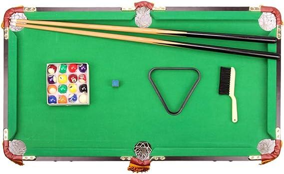 WJSWHW El Juego de Billar Mini Tabletop Pool Set Incluye Bolas de Juego, Palos, tizas, Pinceles y triángulos. Portátil y Divertido para Toda la Familia.: Amazon.es: Deportes y aire libre