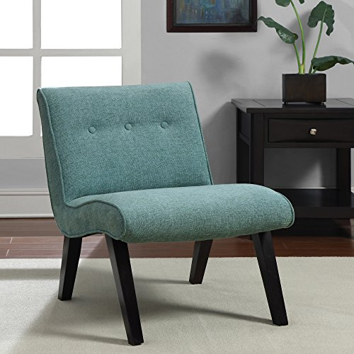 Metro Shop Aqua Armless Tufted Back Chair