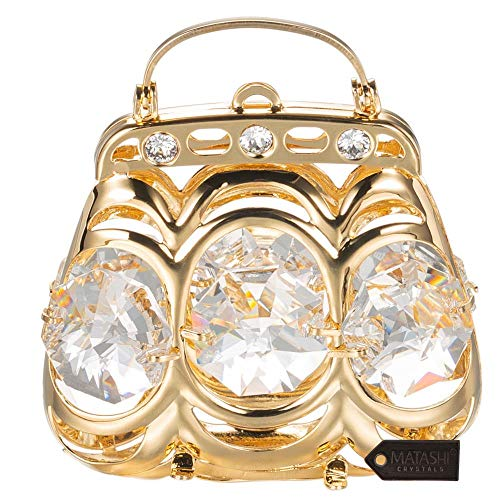 Matashi 24K Gold Plated Crystal Studded Purse ()
