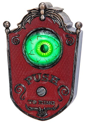 Gemmy 57622 Animated Eyeball Doorbell with Sound Effects, Halloween Party & Haunted House ()