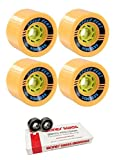 85mm Seismic Skate Systems Speed Vent Longboard Skateboard Wheels with Bones Bearings - 8mm Bones Swiss Skateboard Bearings - Bundle of 2 items