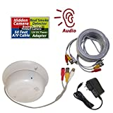Evertech Hidden Covert Camera Functional Real Smoke Detector Cable Adapter Kit