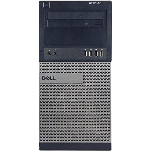 Dell Optiplex 990 Tower Premium Business Desktop Computer (Intel Quad-Core i5-2400 up to 3.4GHz, 16GB DDR3 Memory, 2TB HDD + 120GB SSD, DVD, WiFi, Windows 10 Professional) (Certified Refurbished) by Dell