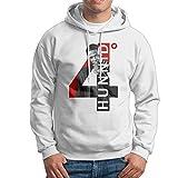 Just Tinge Men YG 4 Hunnid Degreez Fashion Hoodie Sweatshirts White