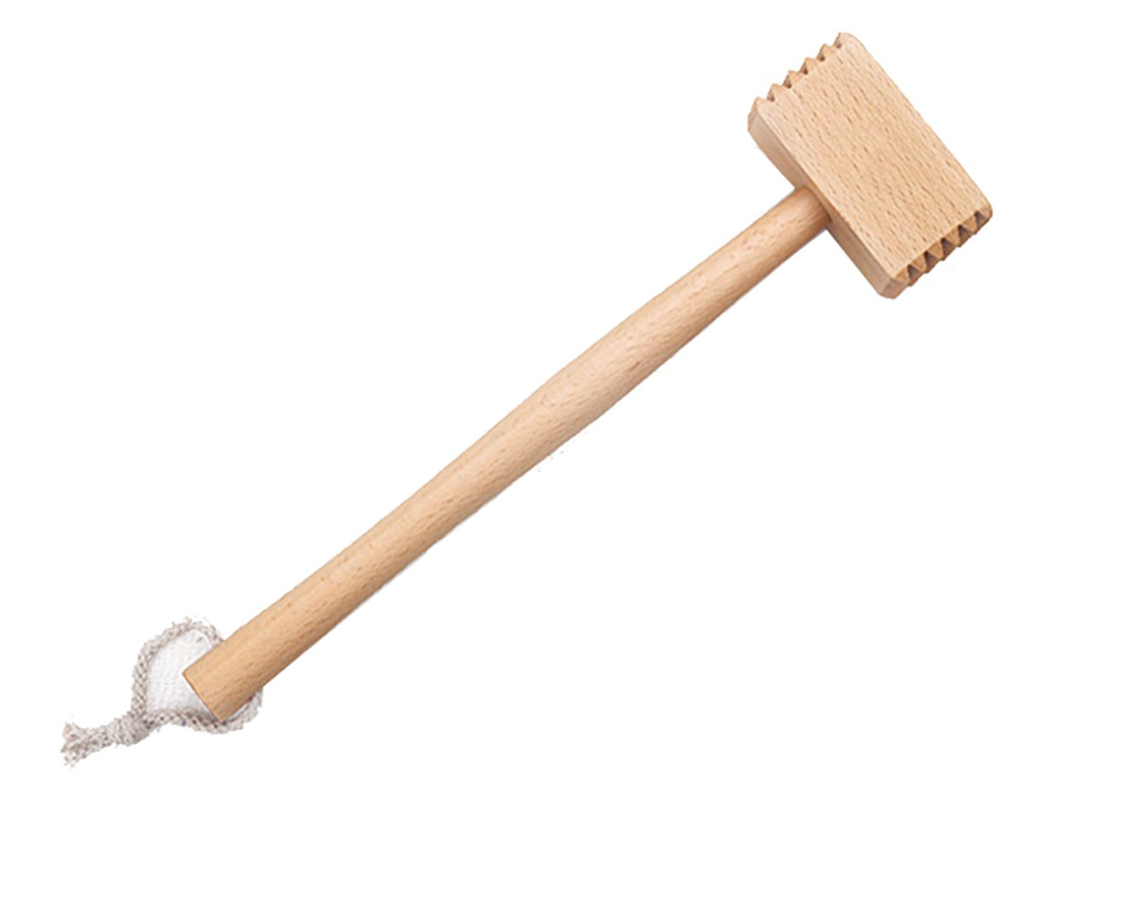 Meat Tenderizer Tool, Meat Pounder Hammer, Double-sided, Solid Wood Made, Hand Held Home Kitchen