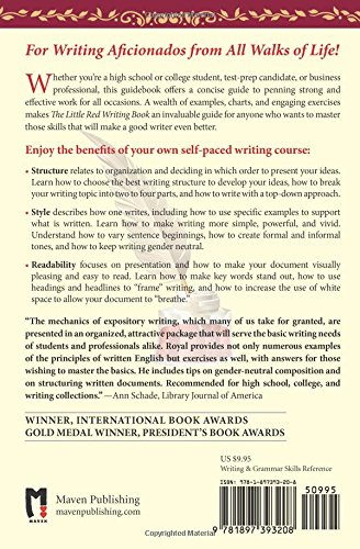 The Little Red Writing Book: 20 Powerful Principles For Clear And Effective  Writing (International Edition): Brandon Royal: 9781897393208: Amazon.com:  Books