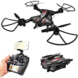 Malluo RC Drone,one key return Altitude Hold quadcopter, Foldable 2.4GHz 6-Gyro Remote Control Drone,Wifi FPV 2.4G 720P HD 2MP 120° Wide Angle Camera,Compatible with VR Headset