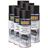 6x Belton Grill Lackspray 0,4l - Hitzefestes Lackspray für Grill und Ofen