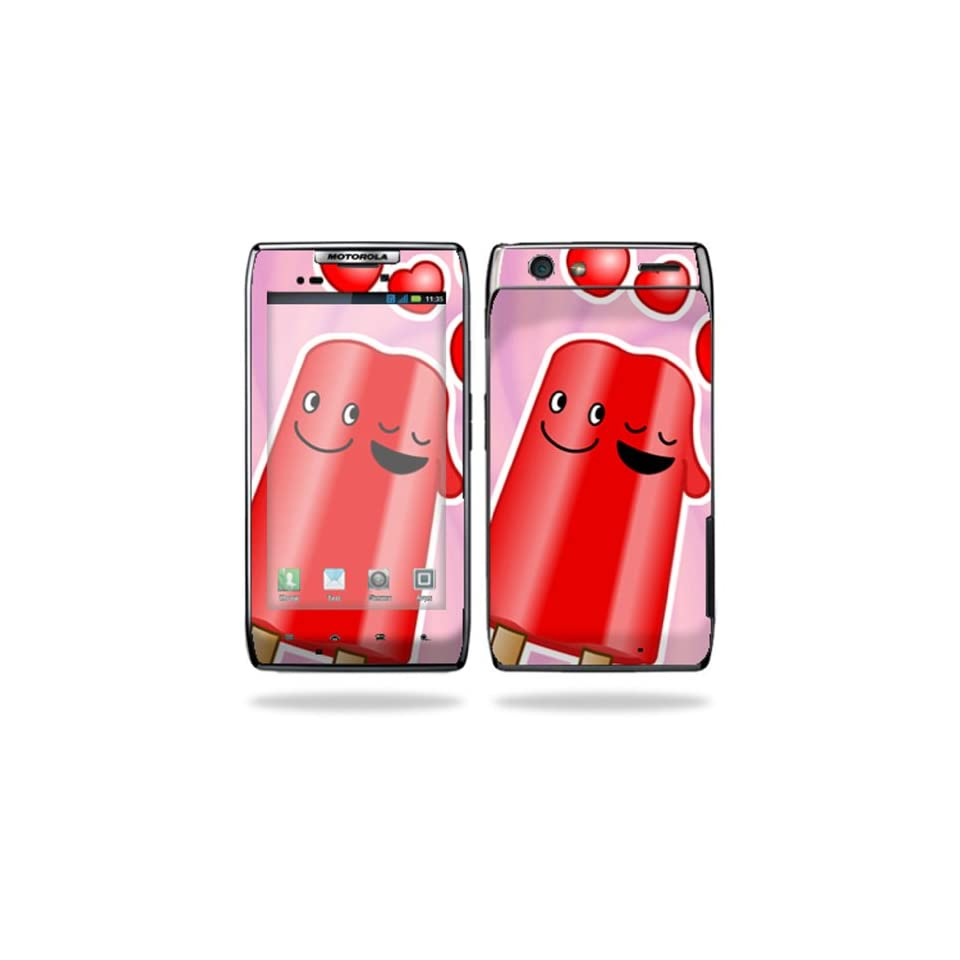 Protective Vinyl Skin Decal Cover for Motorola Droid Razr Android Smart Cell Phone Sticker Skins   Popsicle Love