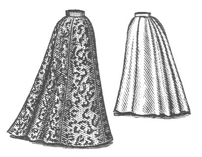 Victorian Skirts | Bustle, Walking, Edwardian Skirts 1898 Walking Skirt Pattern                               $16.50 AT vintagedancer.com