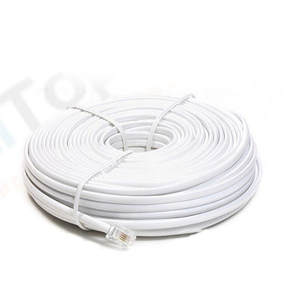 amazoncom new 50 ft foot telephone phone extension cord cable line