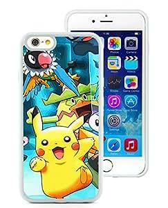 Pokemon Popular Cute and Funny Pikachu 08 White Individual Custom iPhone 6 4.7 Inch TPU Case