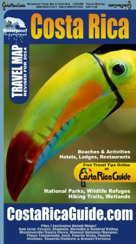 By Ray Krueger Koplin Waterproof Travel Map Of Costa Rica 5e
