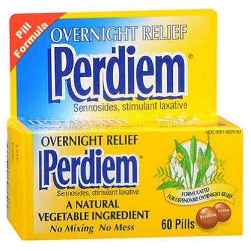 Perdiem Pills Overnight Relief 60 Each (Pack of 6) by Perdiem