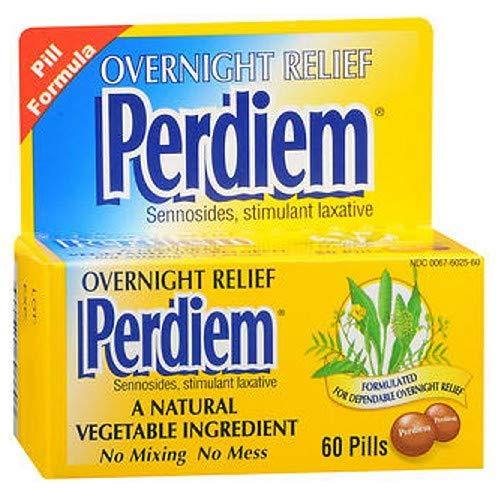 Perdiem Pills Overnight Relief 60 Each (Pack of 8)