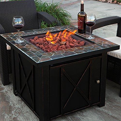 - XtremepowerUS Outdoor Patio Heater Propane Heater Adjustable Flame Propane Gas Heater, Firepit Heater Bronze