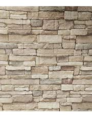 Pack of 5 - Beige stone - wallpaper stickers