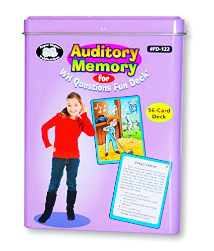 Processing Card - Superduper Auditory Memory for WH Questions Fun Deck