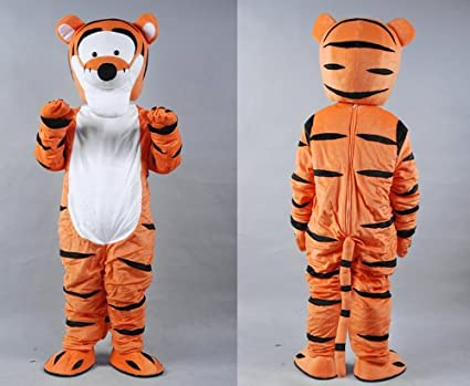 Winnie the Pooh Tigger Mascot Costume Adult Size  sc 1 st  Amazon.com & Amazon.com: Winnie the Pooh Tigger Mascot Costume Adult Size: Clothing