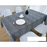 DW&HX Nordic Cotton Linen Table Cover Tablecloths Table Cloth Small Fresh Square Lattice Home Kitchen Easy Care Washable Tablecloth-P 140x140cm(55x55inch)