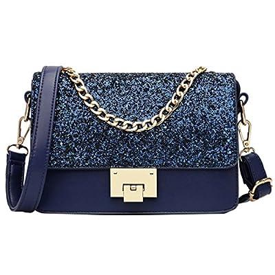 Goodbag Boutique Women Sparkly Sequin Chain Tote Handbag Clutch Girl Exquisite Shoulder Crossbody Bag