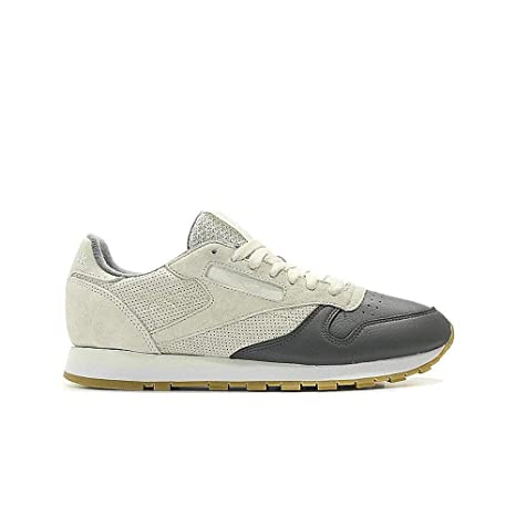 7830219db2ac Image Unavailable. Image not available for. Color  Reebok Classic Leather Ls  (Chalk Alloy White-Gum) Men s Shoes BS5080