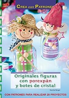 Serie Porexpán nº 2. ORIGINALES FIGURAS CON POREXPÁN Y BOTES DE CRISTAL (Cp-