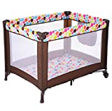 New Playard Baby Crib Bassinet Travel Portable Bed Playpen Infant Toddler Foldable