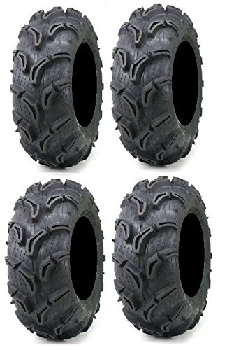 Full set of Maxxis Zilla 26x9-12 and 26x11-12 ATV Mud Tires (4) by Powersports Bundle (Image #2)