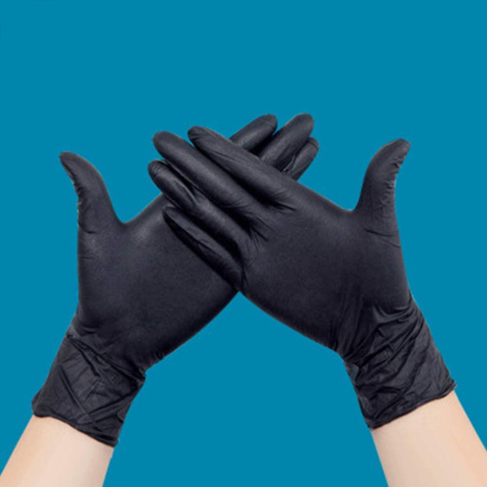 1 box of 100 W.zz Black Nitrile Disposable Gloves Tattooist tattoo mechanic Gloves,wear-resistant and stain-resistant beauty salon gloves