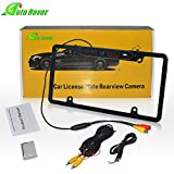Auto Rover 170° Viewing Angle Universal Car License Plate Frame Mount Rear View Camera With 8 IR LED Night Vision Parking/Reverse Assistance(Black)
