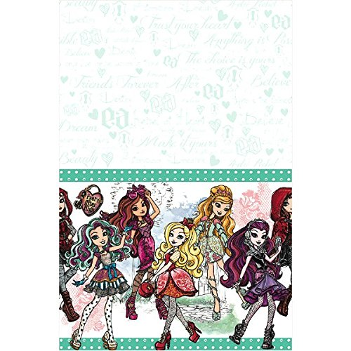 Amscan Fabulous Ever After High Birthday Party Plastic Table Cover (1 Piece), Green, 54