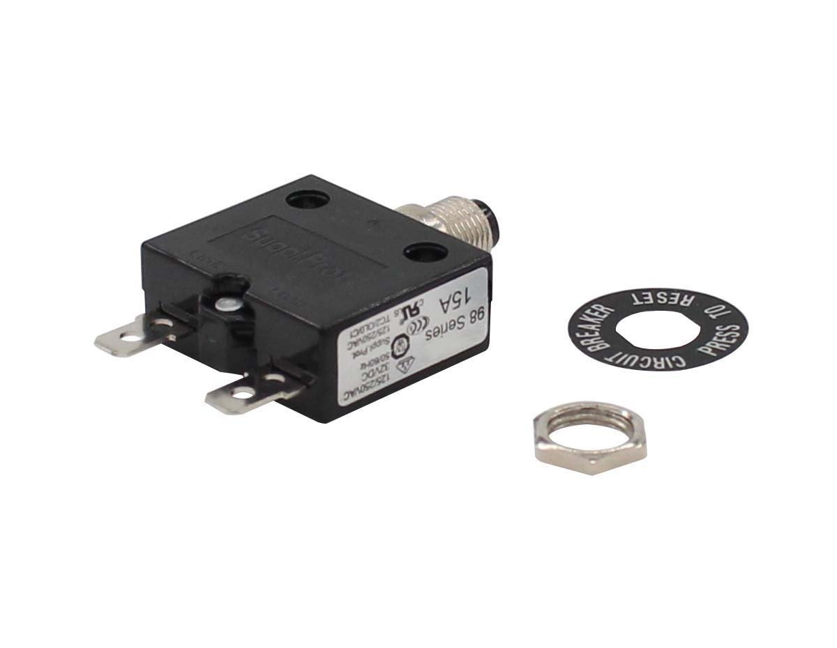 New 15A Circuit Breaker 98 series 32VDC 125/250VAC MOTOKU