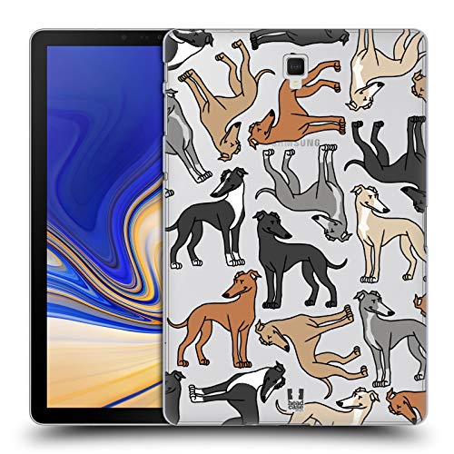 Head Case Designs Italian Greyhounds Dog Breed Patterns 8 Hard Back Case Compatible for Samsung Galaxy Tab S4 10.5 (2018) ()