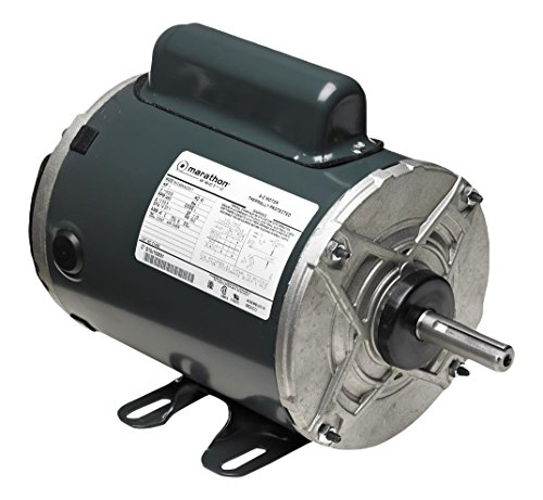 Enclosed Phase Base Totally Rigid (Marathon 5KCR49TN8058T Farm Duty Aeration Fan Motor, 1 Phase, Totally Enclosed, Rigid Base, Ball Bearing, 2 hp, 3600 rpm, 1 Speed, 115/230 VAC, 145TZ Frame, Capacitor Start/Run)