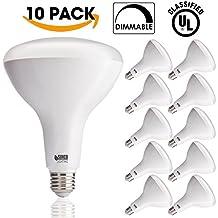 Sunco Lighting 10 PACK - BR40 LED 17WATT (100W Equivalent), 3000K Warm White, DIMMABLE, Indoor/Outdoor Lighting, 1400 Lumens, Flood Light Bulb- UL & ENERGY STAR LISTED