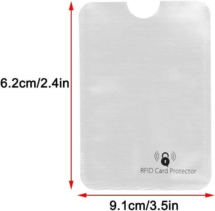 RFID Titulaire de la Carte de cr/édit Le Cas de la Carte UWILD /® Deluxe en Acier Inoxydable IRF Carte de cr/édit Wallet Purse Holder pour Hommes et Femmes Silver