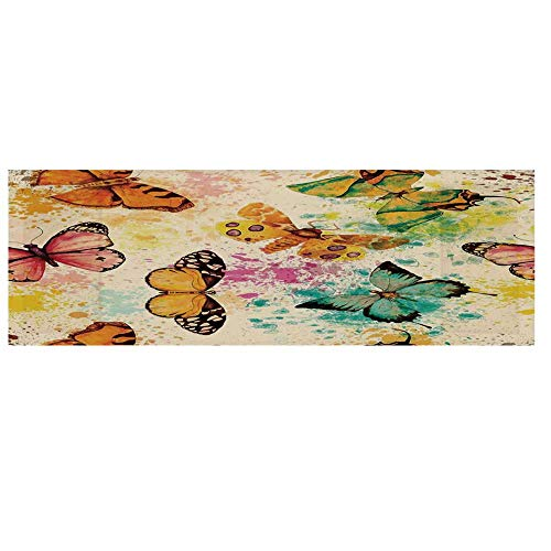 - Butterflies Decorations Microwave Oven Cover with 2 Storage Bag,Watercolors Murk Grungy Butterflies with Color Splashes Be Mindful Boho Artsy Print Cover for Kitchen,36