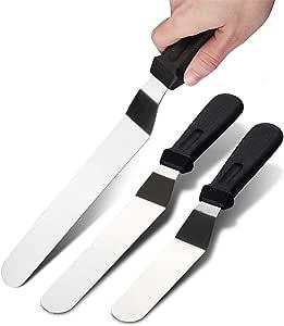 ادوات لديكور طاولة الطعام، 3 قطع من ستانلس ستيل من رويكسو، حلوى كعكة الخبز، ملعقة كبيرة، مكشطة زبد وسكين