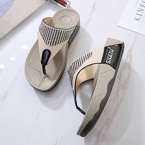 Compensées Été Plage Bouche Pantoufles Sandales Poisson Mode Été A Sandales ❤ Loisirs Pantoufles YUYOUG Fond Chausson Tongs de Compensées Mules Sandales Chaussures Chaussures é de Femmes 6vtqwxUnRU
