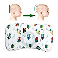 Baby Pillow for Sleeping, CuleedTec Infant Head Shaping Memory Foam Pillow for 0-2T Baby, Prevent Flat Head Syndrome, Newborn Sleeping Pillow with Neck Support, Washable Cotton Pillow Cover