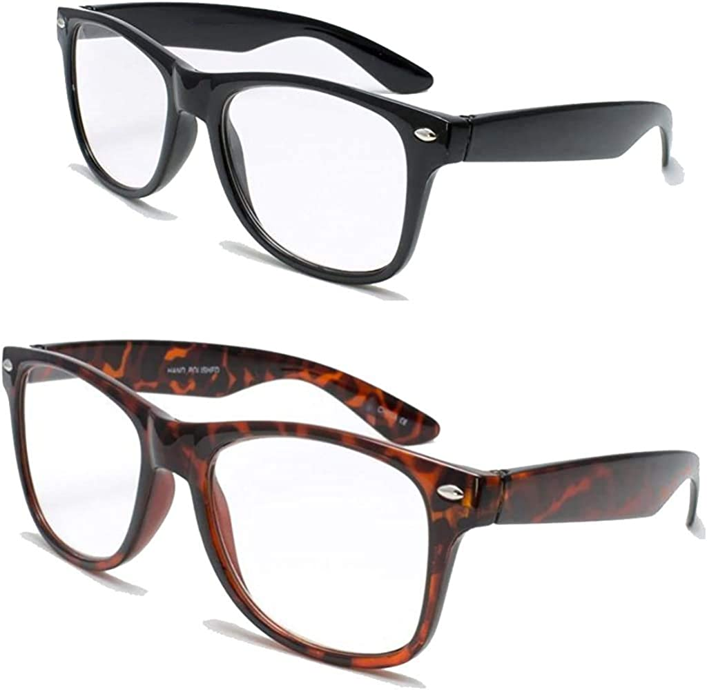 2 Pairs Deluxe Reading Glasses - Comfortable Stylish Simple Readers Rx Magnification 513UB4ZLORL