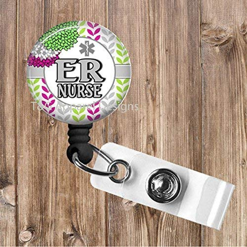 Semi-Personalized Nurse Specialty No Twist Retractable Badge Reel, Badge Holder, Nurse, CNA, RN, LPN, Cardiac, Nicu, ICU, L&D, Surgical,
