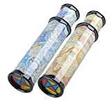 2Pack Mseeur magic kaleidoscope,best birthday gift for children.(Two Colours)