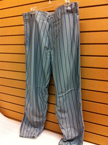 (CHAMPRO Baseball Pants Grey/Royal Blue Pinstripes Adult XL)
