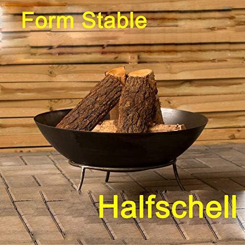 Köhko Feuerschale Malaga ca. 50x50x24 cm Feuerstelle mit 3 Beinen aus Stahl