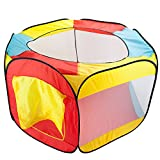 Hexagon Pop Up Ball Pit Tent with Mesh Netting and Carrying Case by Imagination Generation