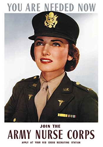 (You are Needed Now, Join the Army Nurse Corps, Poster, Art, WWII, Souvenir Magnet 2 x 3 Photo Fridge Magnet)