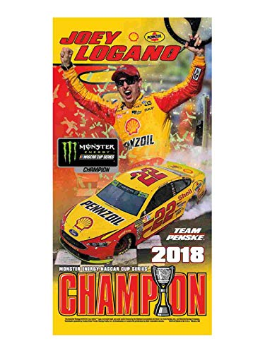 WinCraft Joey Logano 2018 NASCAR Cup Series Champion Beach Towel 30