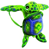 "17"" Big Eye Green Sea Turtle Travel Backpack Buddies Stuffed Bookbag by Fiesta Toys"